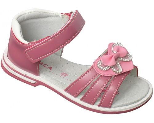 Сандали детские для девочек «Алиса» темно-розовые
