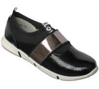 Туфли спортивные «Biraces» черный лак