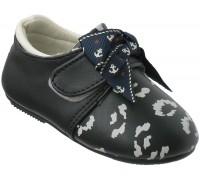 Туфельки для малышей на липе с бантиком «Царевна» (20-25), E-09 темносиние