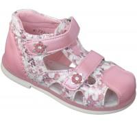 Сандалии детские для девочек высокие «Царевна» розовые