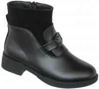 Ботинки демисезонные «Царевна» черные