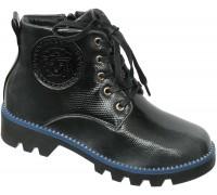 Ботинки «Фантазия», черно-серые