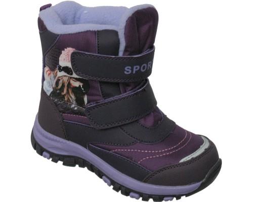 Ботинки мембрана зимние «Фантазия» фиолет