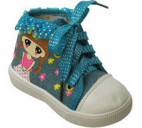 Кедики для малышей на шнурках «Fashion» (16.17.19.20.20.20), 933 бирюзовые