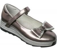 Туфли подростковые «Фаворит» серые
