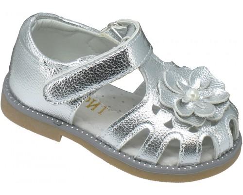 Сандалии детские для девочек «Фаворит» серебро