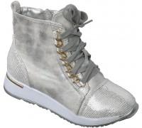 Ботинки «Котенок» белое серебро