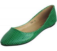 Балетки «Necosia» зеленые клетка