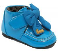 Ботинки «Pafi» осень-весна для девочек голубые, размеры с 21 по 26