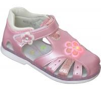 Сандали детские для девочек мигающие «Пчелка» розовые