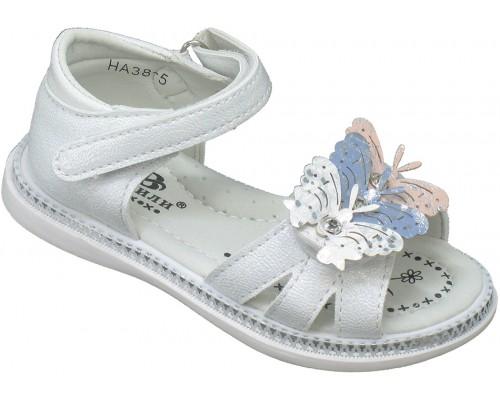 Сандалии детские для девочек «Пчелка-Башили» белый перламутр