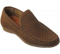 Туфли для мальчиков в сеточку «R.Rocco», темно-коричневые
