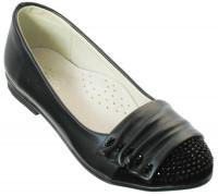 Туфли для девочек «Ромашка», темно-синие