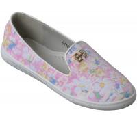 Туфли текстильные «Ромашка» розовые