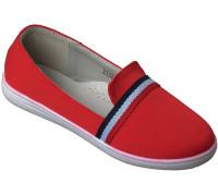 Туфли текстильные «Ромашка» красные