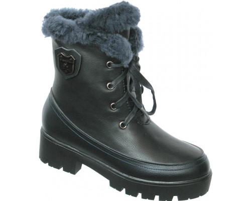 Ботинки зимние «Ромашка» темно-синие