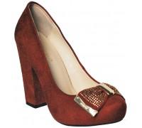 Туфли на высоком каблуке  женские Sirleenna кирпичного цвета