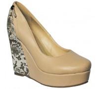 Туфли на платформе женские Sirleenna бежевого цвета