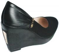 Туфли на платформе из нубука женские Sirleenna черного цвета