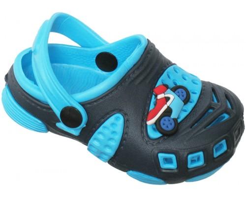 Кроксы «Совенок» темно-синие с голубым