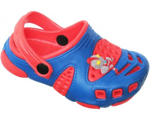 Кроксы «Совенок» синие с красным