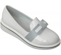 Туфли «Совенок» белый лак