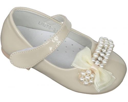 Туфли праздничные «Совенок» бежевые