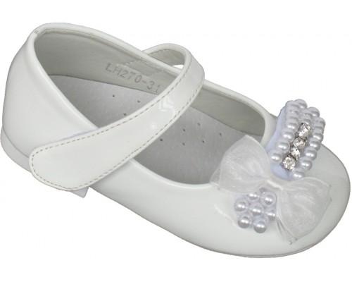 Туфли праздничные «Совенок» белые