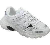 Кроссовки подростковые для девочек «EX-tim» белые