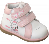 Ботинки «Mio Sole» белые с розовым