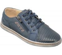 Туфли подростковые для мальчиков «Песня» темно-синие