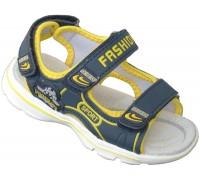 Сандалии детские для мальчиков «Теремок» синие с желтым
