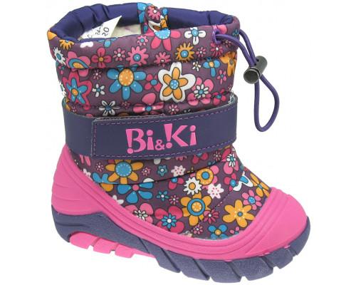 Сноубутсы детские «Bi&Ki» фиолет