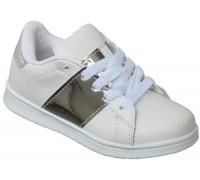 Кроссовки детские «Буратино» белые с серебром