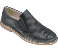 Туфли школьные, перфорированные «Калория» черные