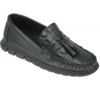 Мокасины школьные для мальчиков «Калория» черные