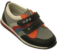 Туфли «Царевич» черный+серый