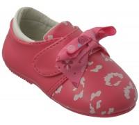 Туфельки для малышей на липе с бантиком «Царевна» (20-25), E-09 розовые