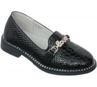 Туфли «Царевна» темно-синий лак
