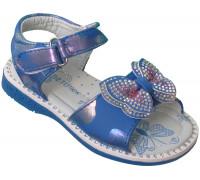 Босоножки детские «Цветочек» синие