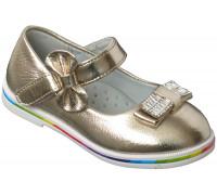 Туфли «Цветочек» золотые