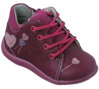 Ботиночки демисезонные для детей, шнурки + замок «Дракоша» (19-24), 550-1 бордо