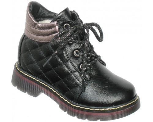 Ботинки зимние «Фантазия» черные
