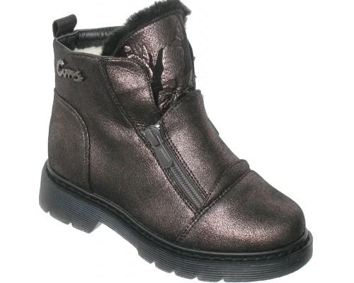 Ботинки зимние «Фантазия» бронза