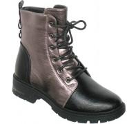 Ботинки зимние «Фантазия» черные с бронзой