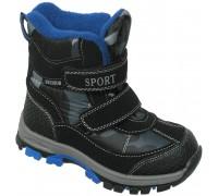Ботинки мембрана зимние «Фантазия» черные с синим
