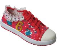 Кеды для девочек на шнурках «Fashion» (33-38), 503 малиновые