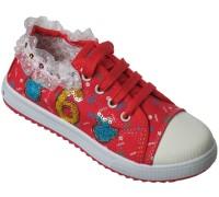 Кеды для девочек на шнурках «Fashion» (33-38), 503 красные