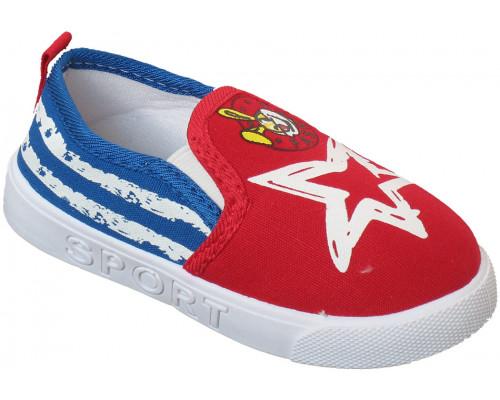 Кеды «Fashion» красные с синим