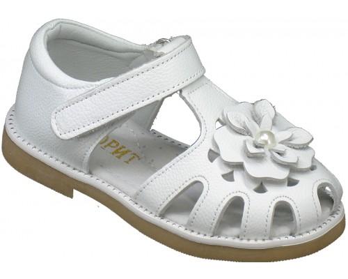Сандалии детские для девочек «Фаворит» белые